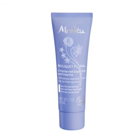 Crème nettoyante exfoliante visage bio Bouquet floral - 50 ml - Melvita